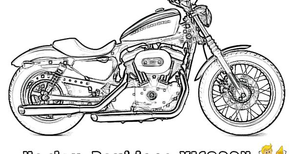motorcycle coloring pages