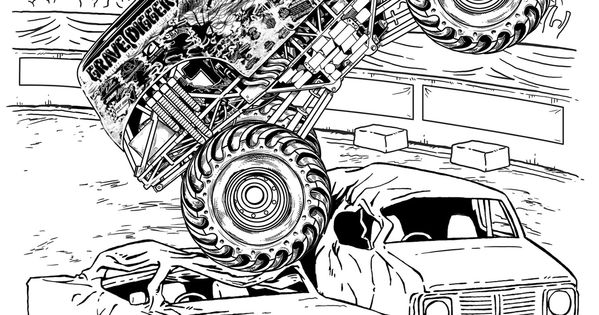 Monster Truck Coloring Pages Letscoloringpages Com Grave