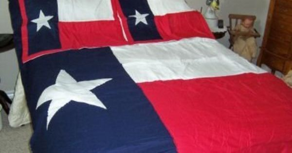 White Blue And Red Texas State Flag Cotton Comforter Quilt Set For Queen Or Full Bed 34 99 Texas Bedroom Decor Texas Bedroom Bed Comforters