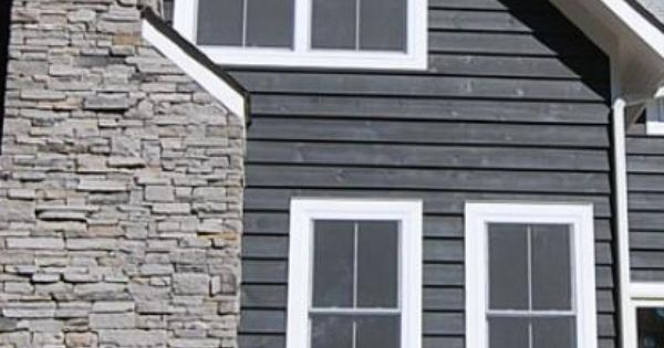 Slate Gray Semi Solid Stain Siding Our Favorite Siding