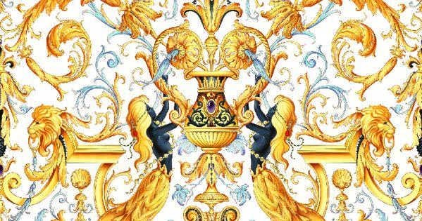 Ilian Rachov For Versace Baroque Marmaids Pattern Design