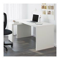 Malm Desk With Pull Out Panel White 59 1 2x25 5 8 Ikea White Paneling Ikea Malm Desk Home Office Design