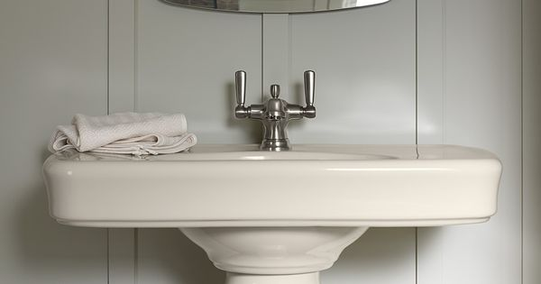 Benjamin Gray Mirage Paint Almond Fixtures And A Brushed Nickel Faucet Make The Perfect Palette