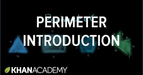 Introduction To Perimeter Measurement Pre Algebra Khan Academy Pre Algebra Perimeter Algebra