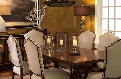 Tuscan Decorating Style Family Rooms Tuscan Dining Room Furniture