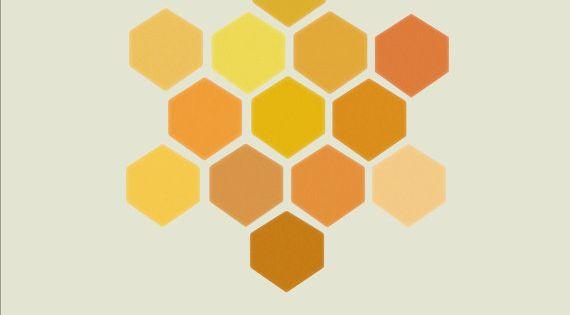 honeycomb geometric print