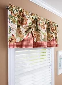Details about Gingham Floral Kitchen Curtain Collection ...