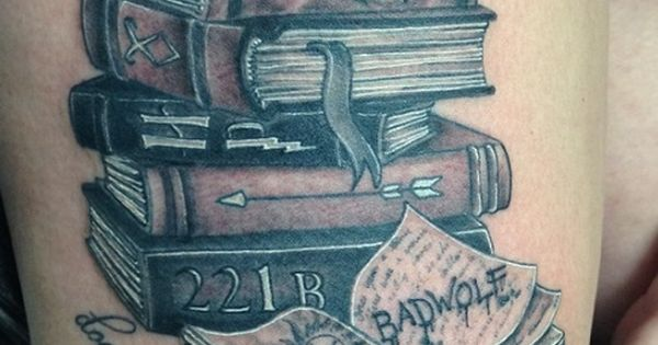 stack of books tattoos - Google Search | Book Tattoos ...