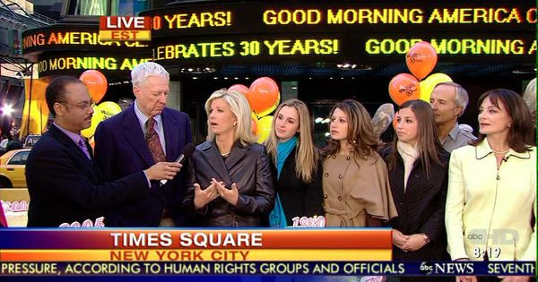 Good Morning America Dave Roe : In times square celebrating th anniversary of good