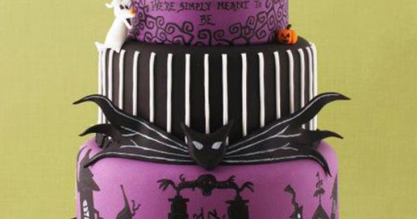 Amazing Nightmare Before Christmas wedding cake. Absolutely NOT my style for a
