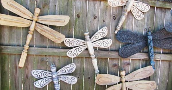 The Original Table Leg Dragonflies with Ceiling Fan Blade Wings.Fantastic craftfor the