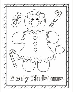 Free Christmas coloring pages - gingerbread girl coloring ...