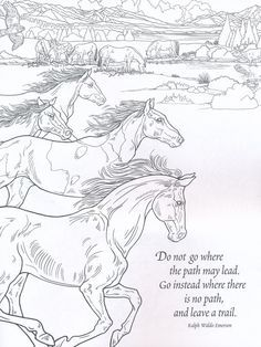 Nature Coloring Book For Adults Horse Coloring Pages Coloring Books Animal Coloring Pages
