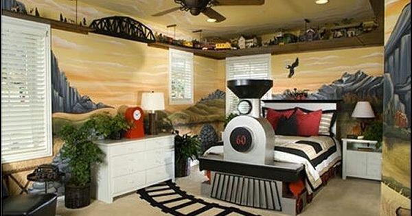 Train Theme Room Boys Theme Bedrooms Decor Furniture Etc Pinterest Theme Bedrooms