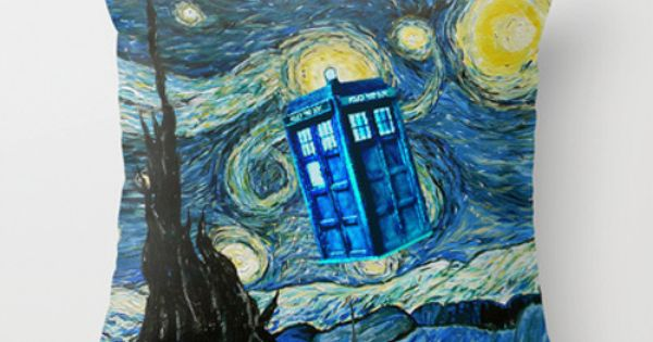 Tardis Doctor Who Starry Night Part 2 Decorative cushion Pillow Case