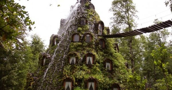 The Magic Mountain Lodge (La Montana Magica Lodge) in Huilo Huilo, Chile