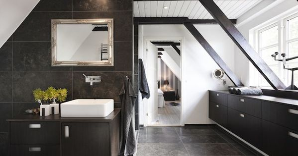 Mobilier Salle De Bain Wenge Carrelage Mur Gris Fonce Carrelage Sol Marbre Gris Vasque Blanche Plantes Salle De Ba Girly Bathroom Bathroom Faucets Bathroom