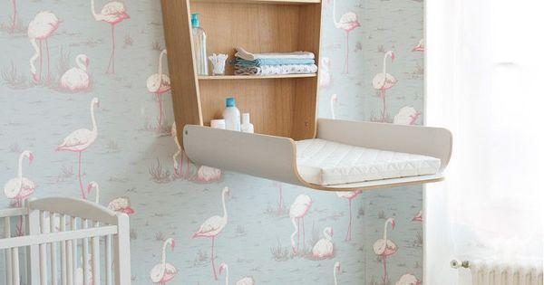 Table langer design charlie crane blanche en vente ici for Commode table a langer blanche