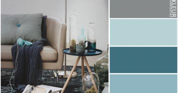 Kleurinspiratie vintage kleurpalet petrol blauw en grijstinten vloerkleed van bonaparte - Plaats van interieur decoratie ...