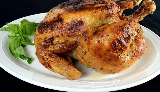 Whole roasted chicken, Roasted chicken and Chicken breasts on ...