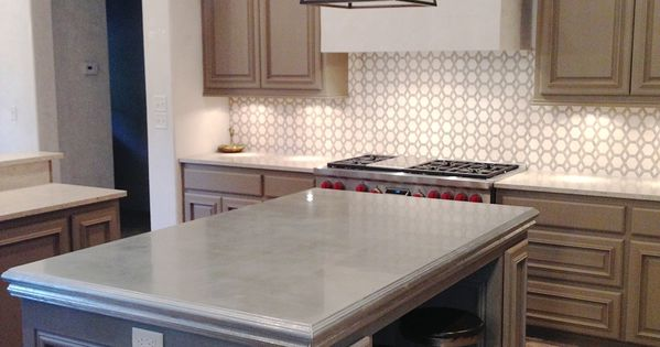 Design indulgence my latest obsession zinc countertops for Kitchen zinc design