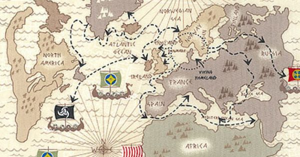 Timeless Treasures Viking Travel Map