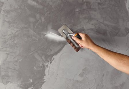 Low Voc Waxine Concrete Look Paint For The Side Walls Looks Cheaper Than Concrete Rendering Faux Concrete Wall Polished Concrete Concrete Wall