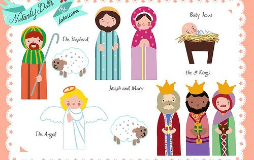 nativity printables. super cute. glue on Popsicle sticks and let the kids
