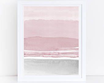 Blush Pink And Grey Abstract Art Watercolor Printable Art Etsy Grey Abstract Art Black Wall Art Wall Art Prints Image