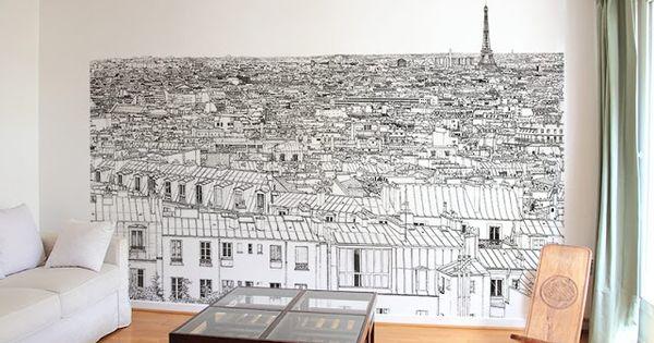 les papiers peints trompe l 39 oeil de ohmywall papier peint de paris nice et illustration. Black Bedroom Furniture Sets. Home Design Ideas