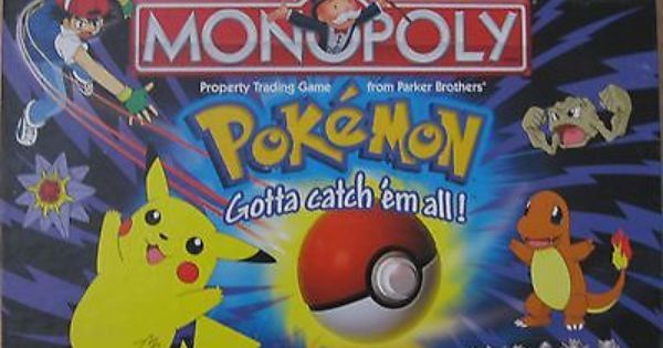 Pokemon Monopoly Collector S Edition Parker Brothers Monopoly Pinterest Monopoly