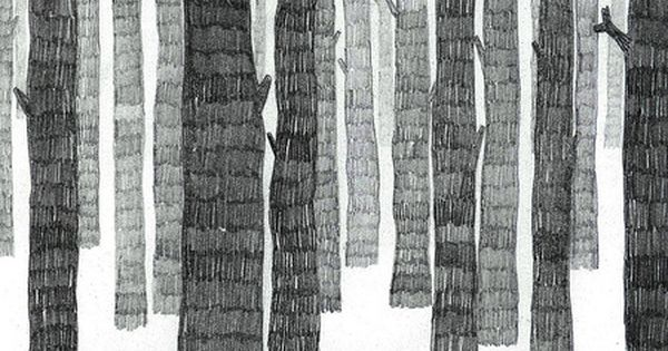 Skog by Frida Stenmark Tree trunks in line