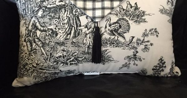 Waverly Garden Room Wellington Black Cream Toile Plaid