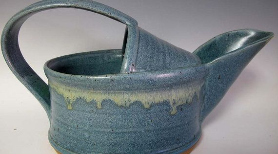 Wheel Thrown And Altered Watering Can By Gallagherpottery