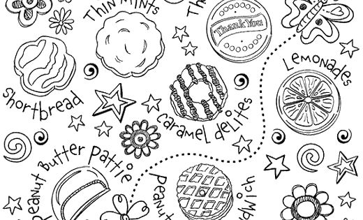 Printable Girl Scout Cookie Coloring Pages 1000 Images