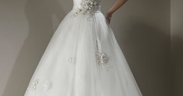 Elegant sweetheart ball gown wedding dress Maggie sottero isadora