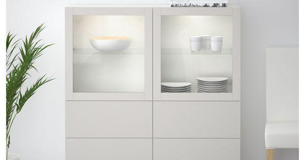 Besta Vitrine Weiss Lappviken Klarglas H Grau In 2020 Vitrine Weiss Aufbewahrung Wohnzimmer Ikea Vitrinenschrank