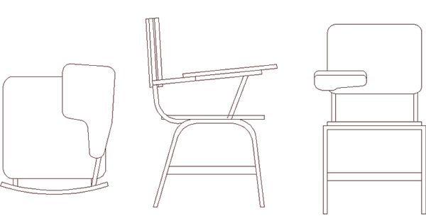 Classroom Furniture Cad ~ Desk school chair in chairs d furniture and