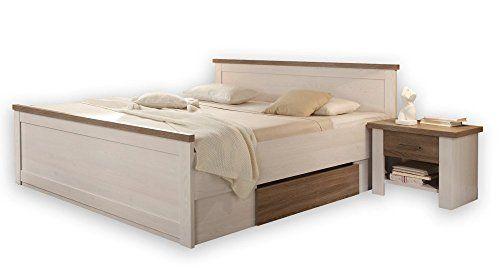 Bett Doppelbett Bettanlage Mit Nachtkommoden Pinie Weiss Https
