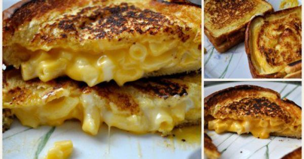 Comfort food!!! Mac cheese grilled cheese sandwich