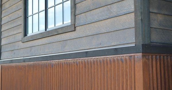 Decorate Exterior Using Corrugated Metal Siding For