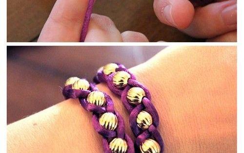 Tutoriel pas à pas pour réaliser un bracelet DIY avec fil queue