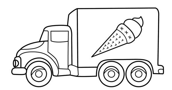 Coloring pages printable coloring pages free coloring pages coloring - Ice Cream Truck Transportation Coloring Pages For Kids