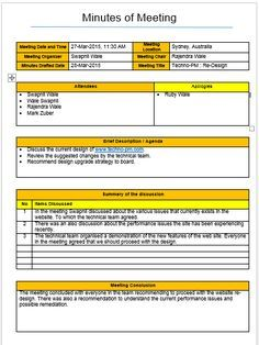 Mom Format Template 4 Types Download Project Management