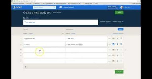 Add Quizlet Vocab Drill To Your Moodle Course Youtube Vocab Study Set Ads