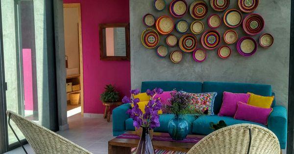 M s color e influencias mexicanas en el espacio calux for Decoracion de interiores estilo mexicano