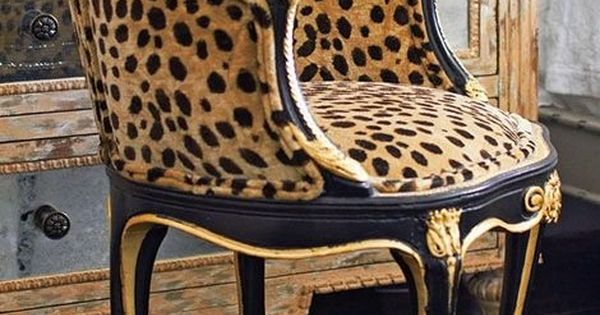 leopard print. I do LOVE it! leopardprint vanity chair