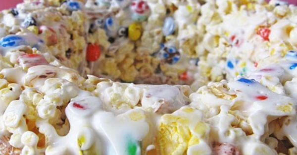 Popcorn cake, wonder if it is like popcorn balls we made as