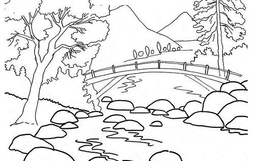 Dibujo De Paisaje De Playa Para Colorear Pictures To Pin ...