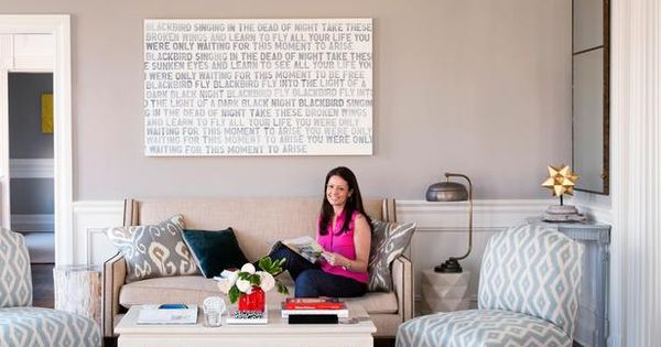 "LOVE the large canvas with The Beatles ""Blackbird"" lyrics."
